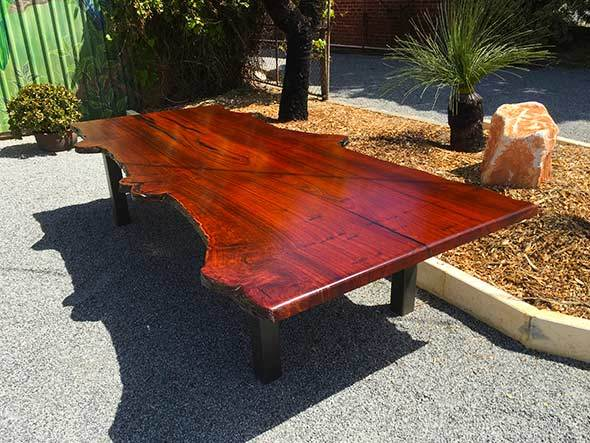 recycled reclaimed jarrah table timber perth