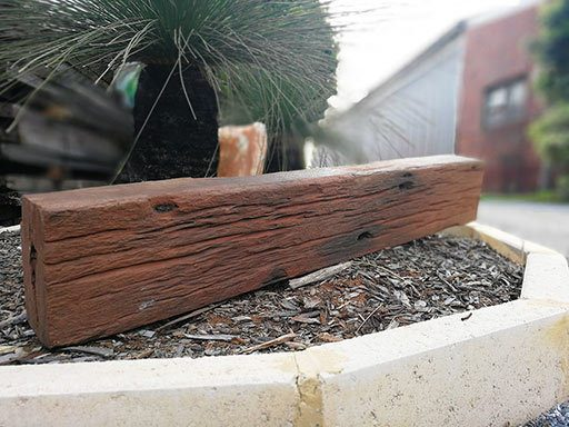 recycled reclaimed salvaged wandoo timber beams posts sleepers perth wa